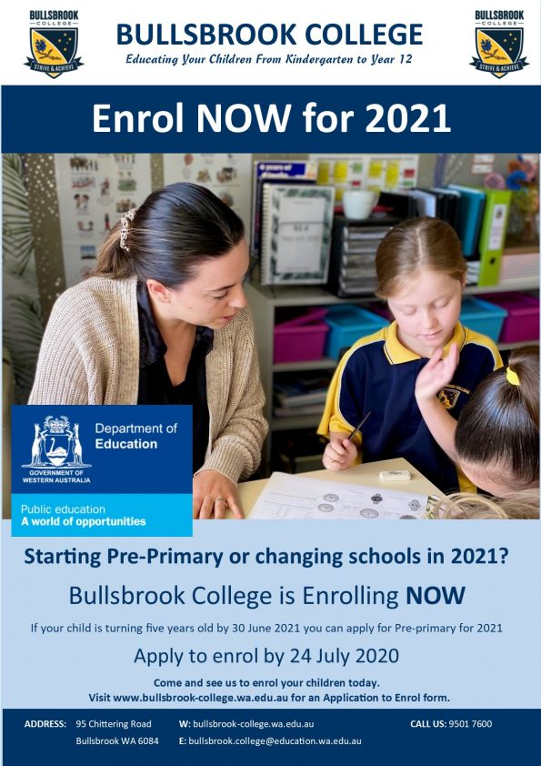 FINAL 2021 Enrolment Flyer - Primary