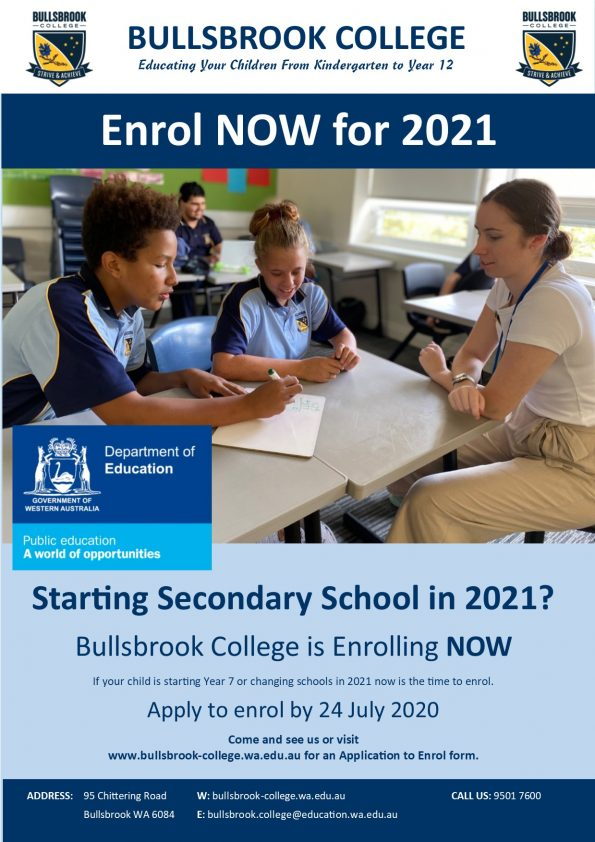 FINAL 2021 Enrolment Flyer - Secondary
